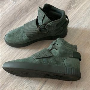 New Adidas Army Green Tubular Invader